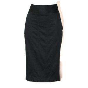 BURBERRY LONDON BLACK COTTON PENCIL SKIRT SIZE 4